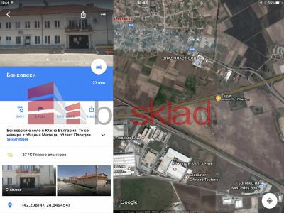 Имот в индустриална зона от 5006 до 17500м2 с лице на АМ ТРАКИЯ
